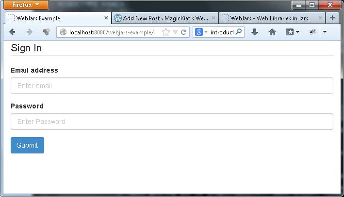 WebJars Bootstrap Example