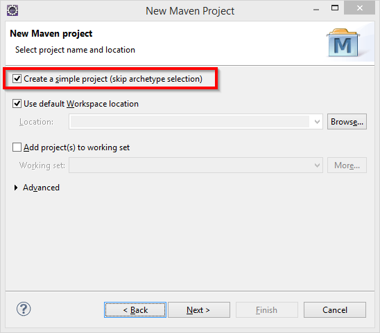 new maven project