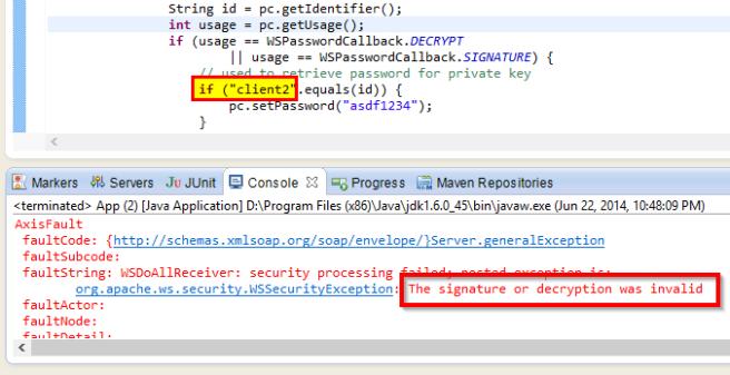 wss4j client key failed