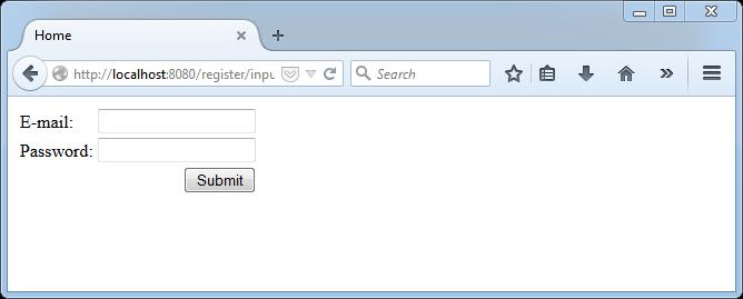 register form