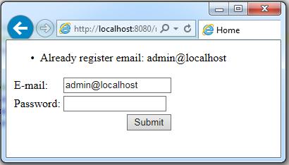 struts2 validate server side